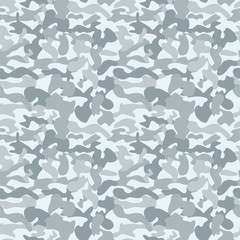 Seamless camouflage texture. Military camouflage pattern background. Vector illustration flat design.