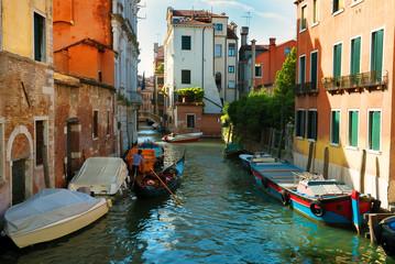 Boats in venetian