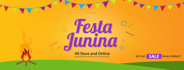 festa junina cover background template design