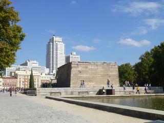 Templo de Debod en Madrid,ciudad y capital de España y de la Comunidad de Madrid.