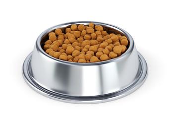Metal pet bowl with dog food Wall mural