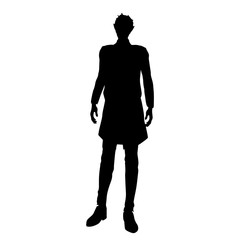Businessman silhouette with black suit