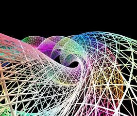 数式によるワイヤーフレームの背景