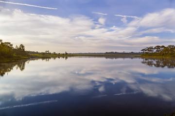 reservoir on the top of Phu Kradueng National Park  1200 msl, Loei province, Thailand