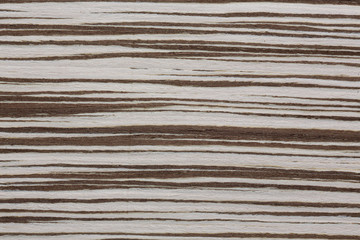 Extraordinary new zebrano veneer texture with superior surface.