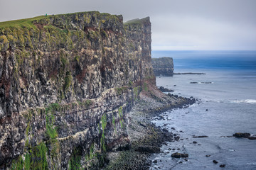 Amazing view to the fantastic coastline of iceland