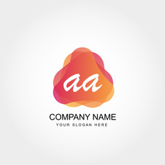 Initial Letter AA Logo Template Vector Design