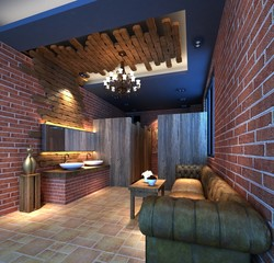 3d render of rest room