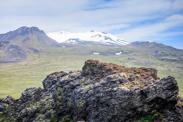 Amazing Scenic mountain landscape shot on iceland