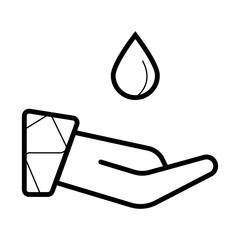 a drop icon flat .