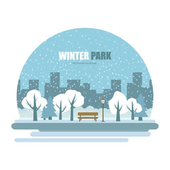 Vector winter parks icon.