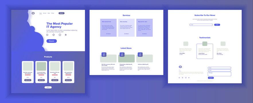 Website Page Vector. Business Website. Web Page. Landing Design Site Scheme Template. Creativity Goal. Meeting Teamwork. Human Resources. Illustration