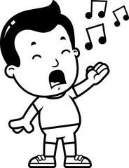 Cartoon Boy Singing