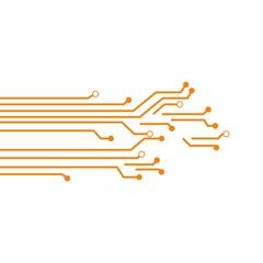 Circuit Board Vector Template Design Illustration