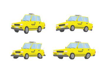 Vector cartoon taxi.