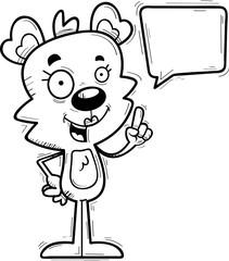 Cartoon Female Bear Talking