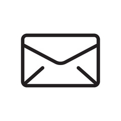 Envelope icon, multimedia icon. Outline bold, thick line style, 4px strokes rounder edges