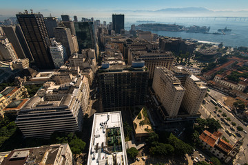 Wall Mural - Aerial View of Rio de Janeiro Downtown Buildings
