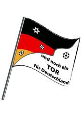 Deutschland Fahne für Fußball. Eps 10 Vektor-Datei