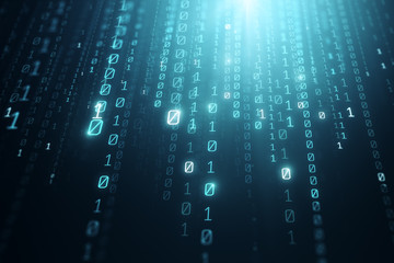Abstract binary code backdrop