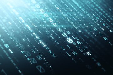 Fotobehang - Creative binary code background