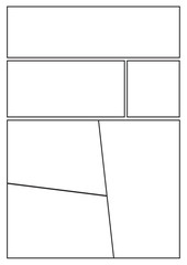 manga storyboard layout template for rapidly create the comic book style. A4 design of paper ratio is fit for print out.