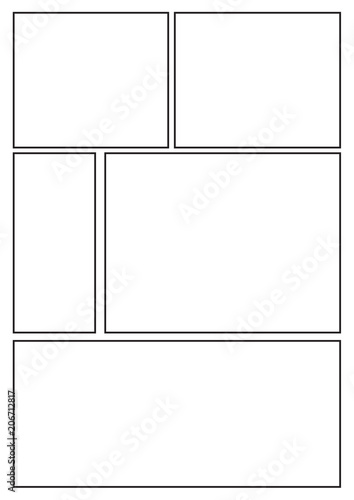 Manga Storyboard Layout Template For Rapidly Create The Comic Book