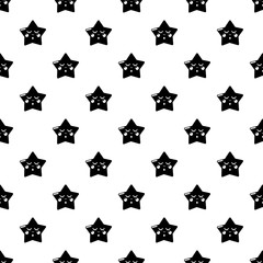 Sleeping star pattern vector seamless repeating for any web design