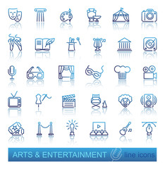 Arts and Entertainment icon set