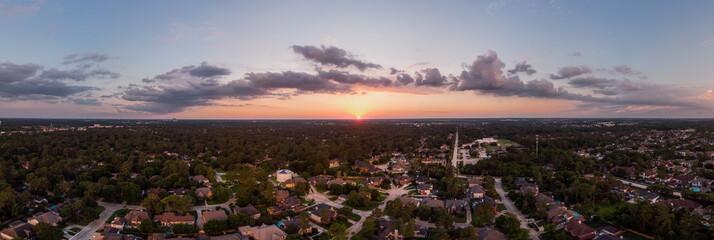 Texas Big Sky Sunset Panorama