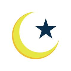 Crescent Star Islam Symbol Illustration Design