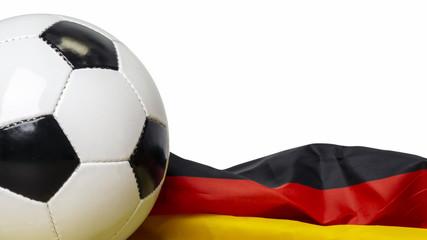 lederball mit deutsche flagge - isoliert.