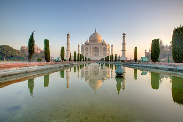 Taj Mahal at the sunrise, Arga, India