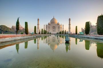 In de dag India Taj Mahal at the sunrise, Arga, India