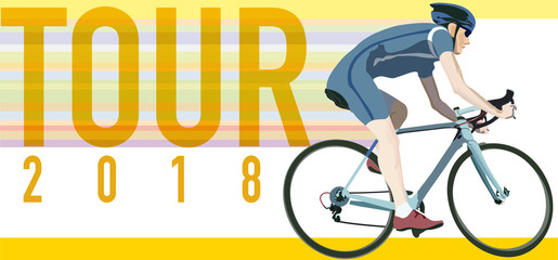 cyclist in motion, tour 2018