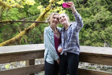 Selfie with teenage girls