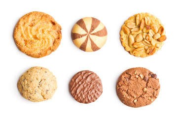 Printed roller blinds Cookies Different types of sweet cookies.
