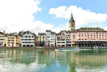 Switzerland Zurich. April 30, 2018. Sights of the city of Zurich.