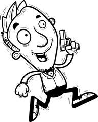 Cartoon Spy Running