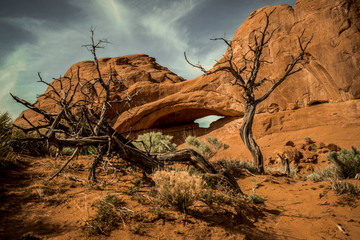 Natural arch rock formation