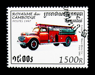 Old vehicle Maxin Motor Co. Ford, 1949, Fire Trucks serie, circa 1997