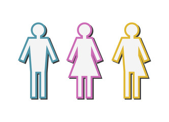 Vector illustration of a gender issues concept