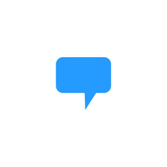 Icon of a message of blue color on a white background
