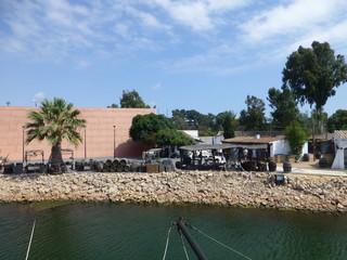 Palos de la Frontera, localidad de Huelva (Andalucia,España) embarcadero carabelas de Colon en el descubrimiento de America