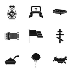 Holiday in Russia icons set. Simple illustration of 9 holiday in Russia vector icons for web