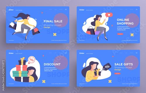 presentation slide templates or hero banner images for websites or