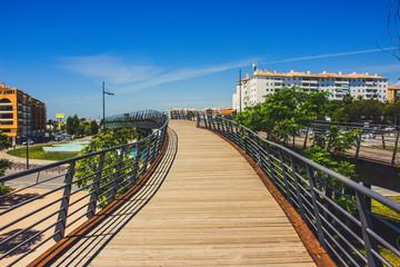 Boulevard San Pedro de Alcantara. Promenade in the city of San Pedro de Alcantara, Marbella. Malaga Province, Andalusia, Spain. Picture taken – 22 may 2018.