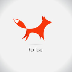 fox logo. on white background. vector. Illustration. logo. symbol. abstract. design. Animals