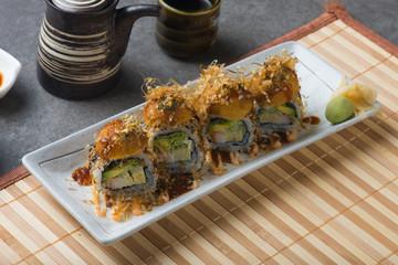 takoyaki sushi roll