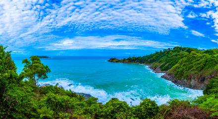 Promthep cape is the most popular viewpoint in Phuket. the most tourist always come to see sunset. in during rainy season always have big waves it danger for tourist to go around the foot hill